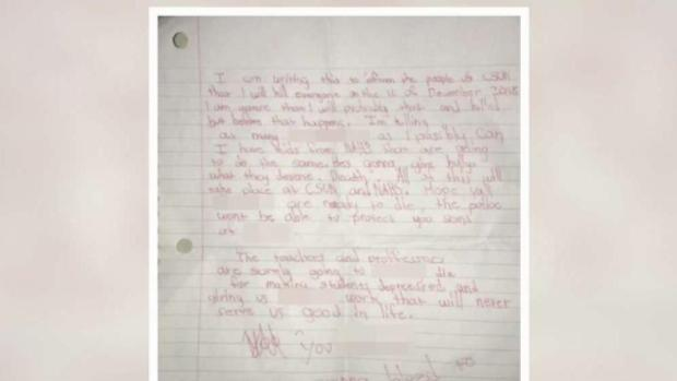 [LA] Letter Found at CSUN Warns of Shooting Threat
