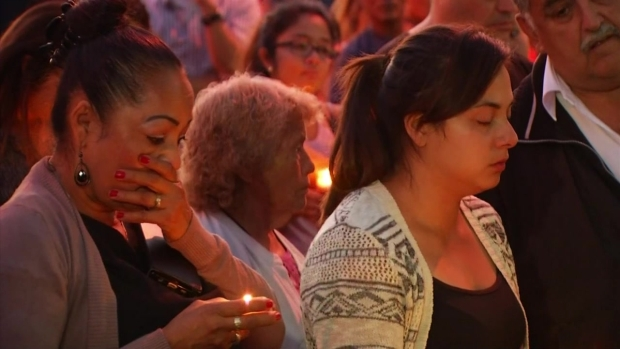 [LA] Candlelit Vigil, Messages in Chalk After 4-Year-Old and Mother Gunned Down