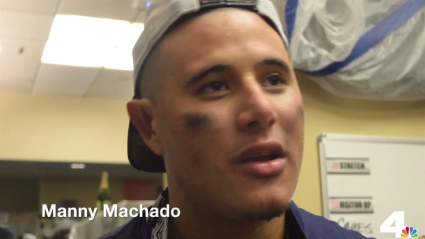 Manny Machado Postgame Celebration Interview