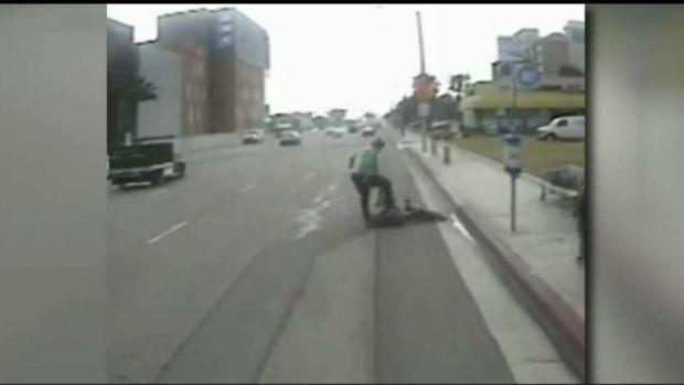 Man Beats Up Another at Buena Park Bus Stop