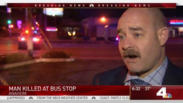 Man found stabbed to death near Anaheim bus stop