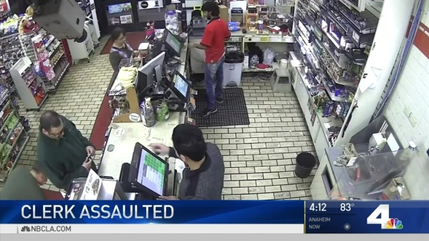Store clerk attacked by man after credit card declined