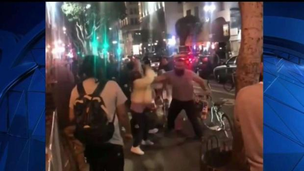 [LA] Man Punches Women at Downtown LA Hot Dog Stand