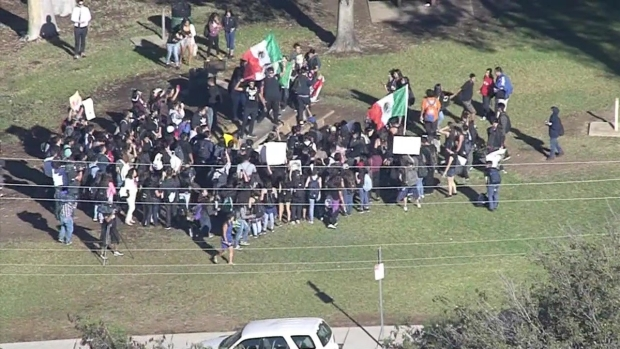 [LA] Aerial Video: Students Walk Out in Post-Election Protest