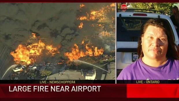 [LA] Massive Fire Sends Black Smoke Into Air