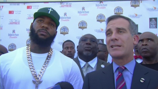[LA] Mayor Garcetti, The Game Organize Gang Unity Meeting