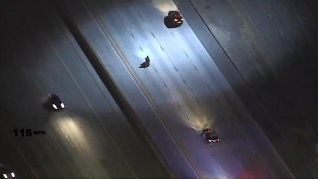 [LA] Police Chase Motorcycle on 5 Freeway