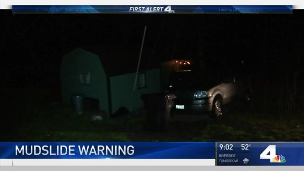 [LA] Mudslide Warning in Effect