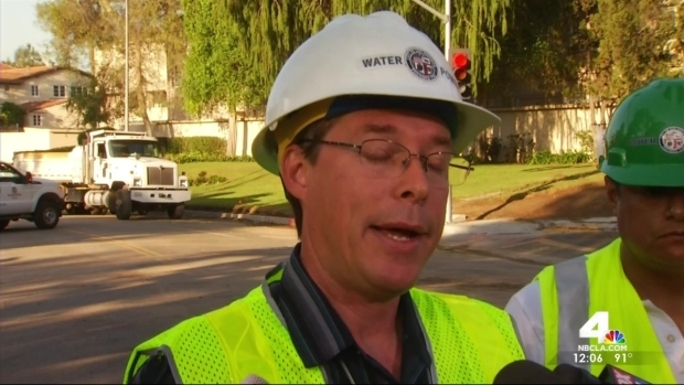 Repairs Begin on Bursted Water Main in Westwood