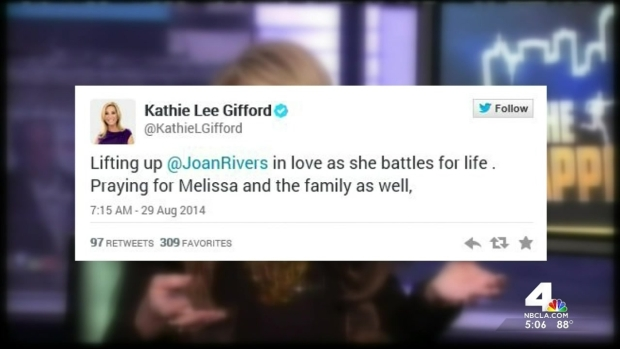 Celebrities Tweet Joan Rivers' a Speedy Recovery