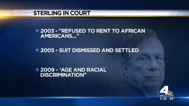 [LA] Sterling Dogged by History of Accusations of Discrimination, Troubling Remarks