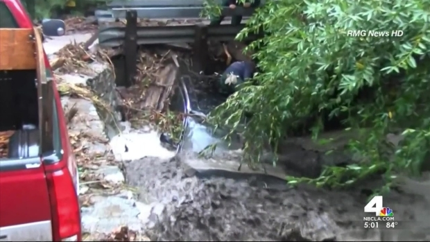 [LA] Crews Dig Out of Muddy Mess Caused by Storm