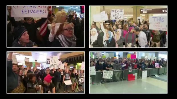 Protests Over Trump Immigration Orders Continue for 2nd Day