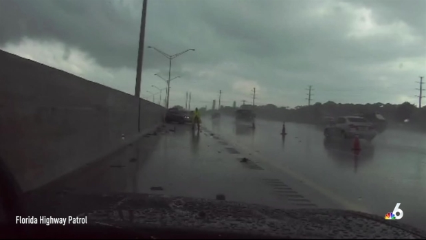 [NATL-MI] Footage Shows FHP Trooper Getting Hit by Out-Of-Control Car on I-95