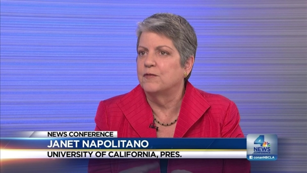[LA] NewsConference: Janet Napolitano, UC President,  Hot Topic Issues.