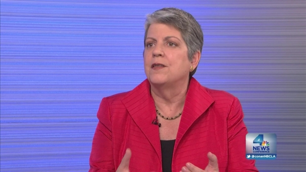 [LA] NewsConference: Janet Napolitano, UC Pres., Answers  Deportations and Qualifications Criticism