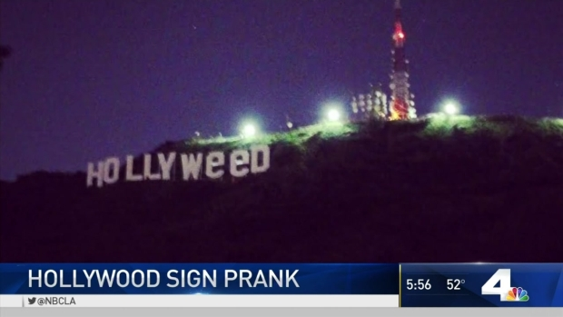 [LA] Neighbors Concerned After Hollywood Sign Prank