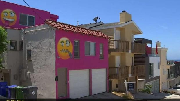 [LA] Neighbors Say Bright Pink Emoji House is Revenge