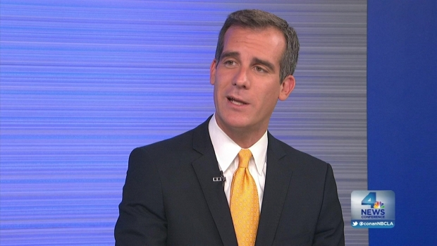 [LA] NewsConference: LA Mayor Eric Garcetti, One Year Anniversary in Office