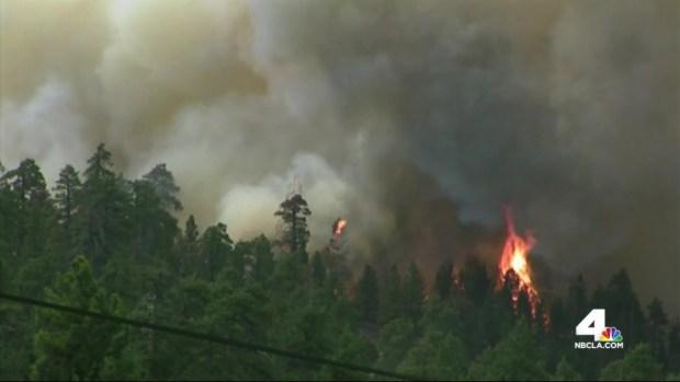 [LA] Nightfall Brings Danger to Firefighters Battling Summit Fire