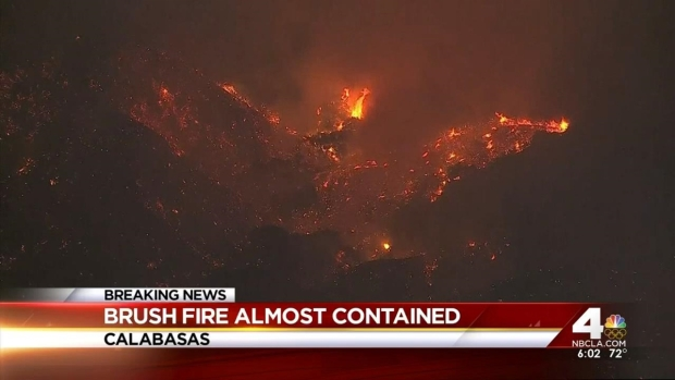 [LA] No Homes Damaged in Calabasas Fire as Containment Reaches 80 Percent
