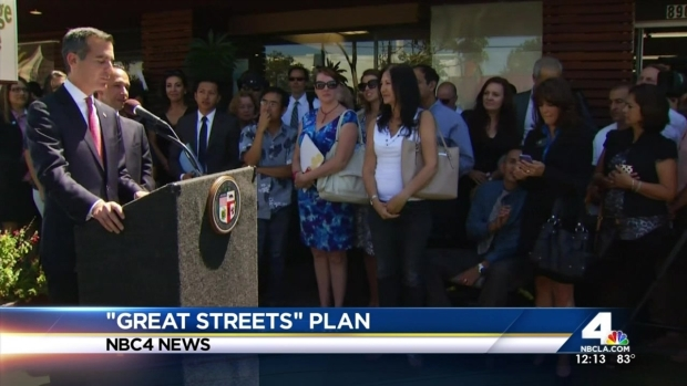 [LA] Garcetti Announces LA's 15 Great Streets