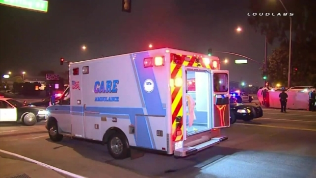 [LA] Cause of Early Morning Ambulance Crash Under Investigation