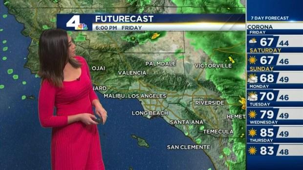 [LA] Noon Update: Rain Arrives