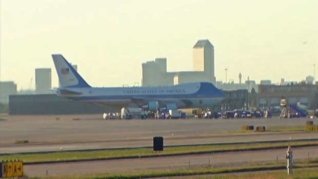 [DFW] President Obama Arrives in Dallas