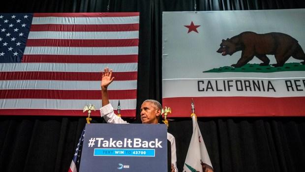 PHOTOS: Former President Barack Obama Speaks in Southern California