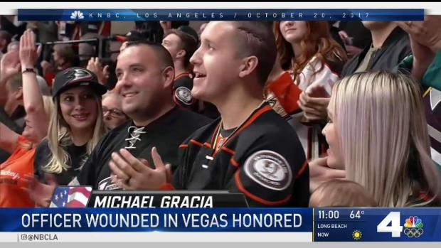 [LA] Ontario Officer Who Survived Las Vegas Shooting Honored