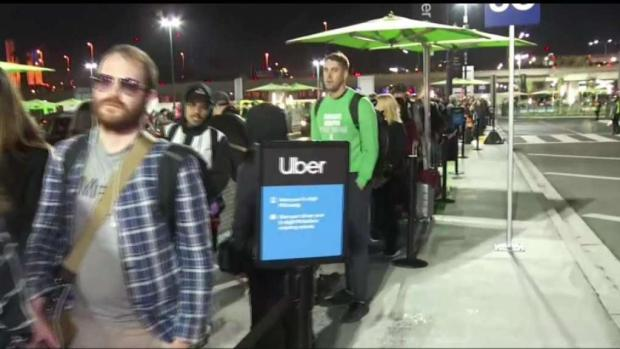[LA]   Passengers Frustrated with LAX Ride-Share Lot