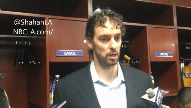 [LA] Pau Gasol On Lakers Lineup