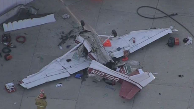 [LA] One Dead, Boy Injured After Pacoima Plane Crash