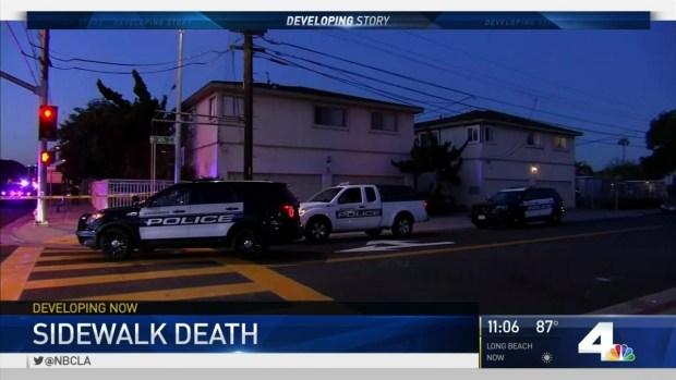 [LA] Police Investigate Man Found Dead on Sidewalk