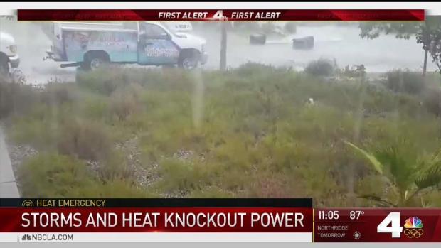 [LA] Pounding Rain Leaves Pomona Residents Without Power
