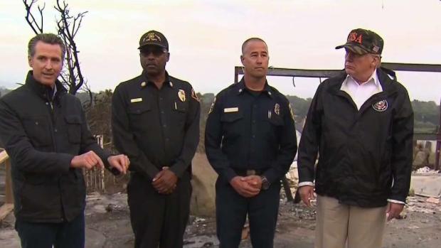 [LA] President Trump Views Woolsey Fire Destruction, Meets Borderline Victims' Families