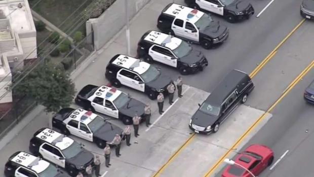 [LA] Procession Held for Fallen LA County Sheriff's Deputy