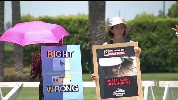 [LA] Protesters Call for End of Horse Racing at Santa Anita
