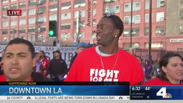 [LA] Protesters Close Streets in Downtown LA in 'Fight for $15'
