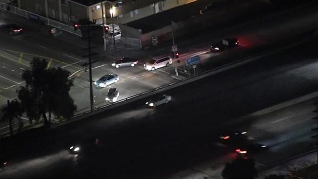 Suspected Stolen Vehicle Pursuit Crashes Into Car