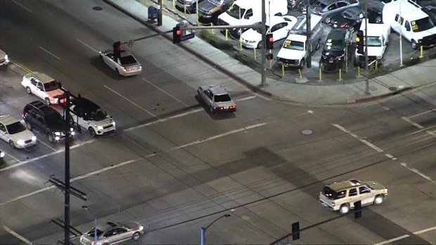 Suspected Stolen Vehicle Nearly Hits Family in Crosswalk