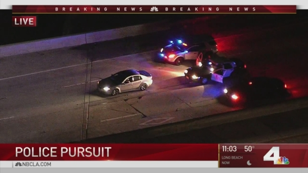 [LA] Pursuit Driver Believed to Be Attempted Murder Suspect