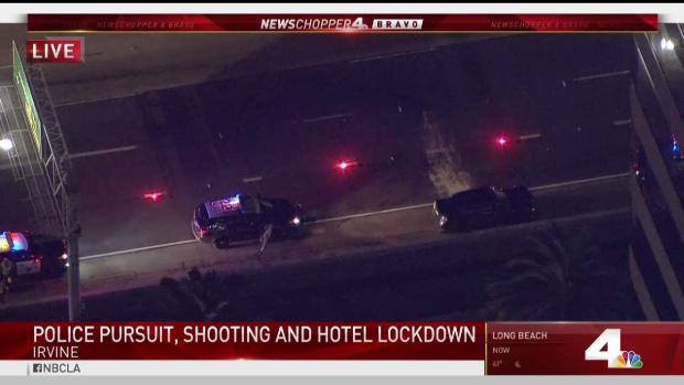 [LA] Pursuit Suspect Shot by Police Outside of Irvine Hotel