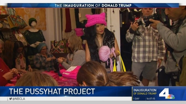 [NATL-LA] 'Pussyhat Project': Pink Hats in Protest of Trump