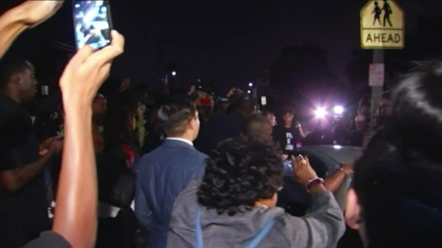 [LA] RAW VIDEO: Black Lives Matter Protesters Surround Mayor at South LA Town Hall