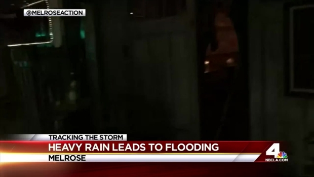 [LA] Storm Causes Flooding on Melrose