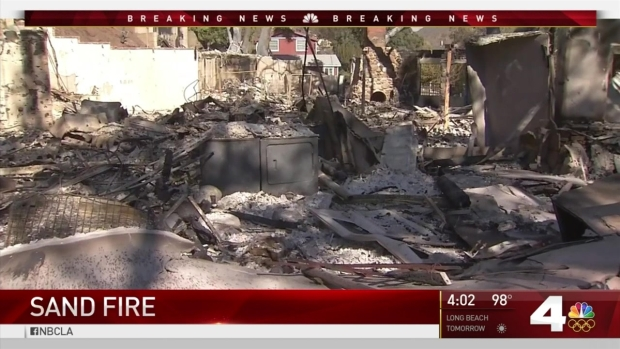 [LA] Residents Worried That Homes Won't Be Standing After Sand Fire