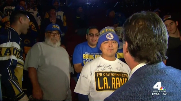 [LA] Return of Rams Celebrated in Inglewood