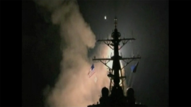 Watch: US Warships Launch Tomahawk Missiles at Syria